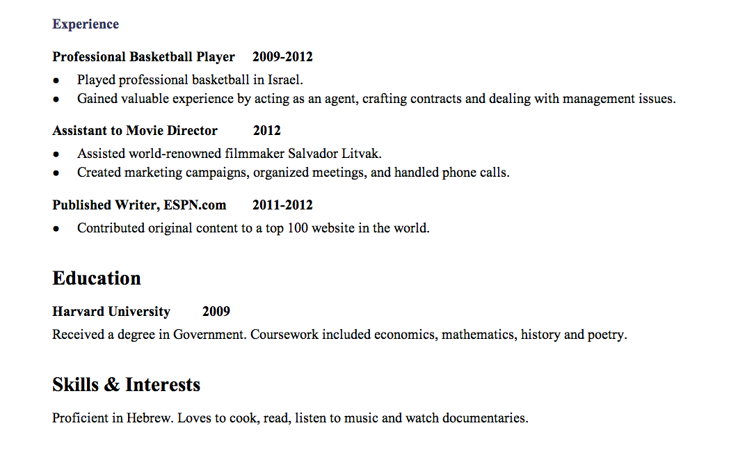 what does a resume look like for a first job 5 smart ways to make